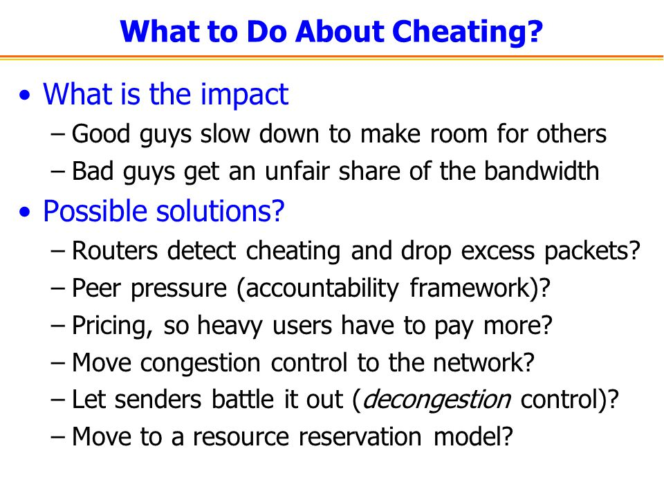 What to Do About Cheating.