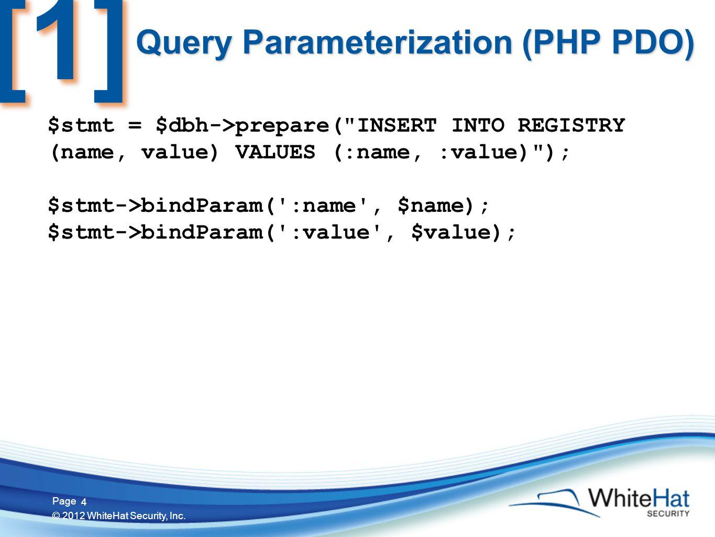 15 Page © 2012 WhiteHat Security, Inc. 15 HTTP GET Parameter Context clickme