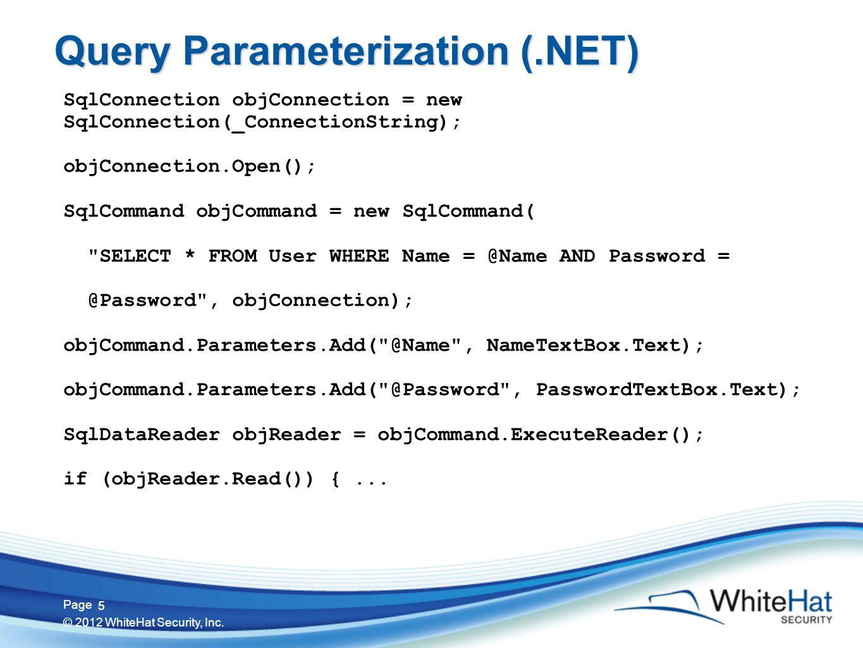 16 Page © 2012 WhiteHat Security, Inc. 16 URL Context clickme