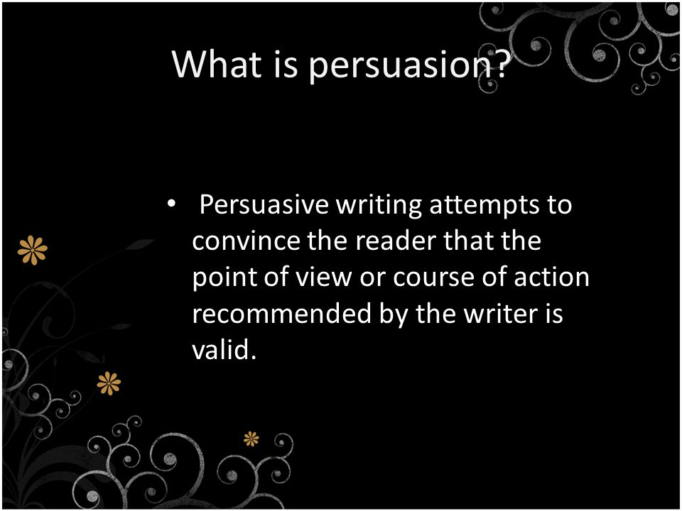 What is a persuasive paragraph.The paragraph follows a defined format.