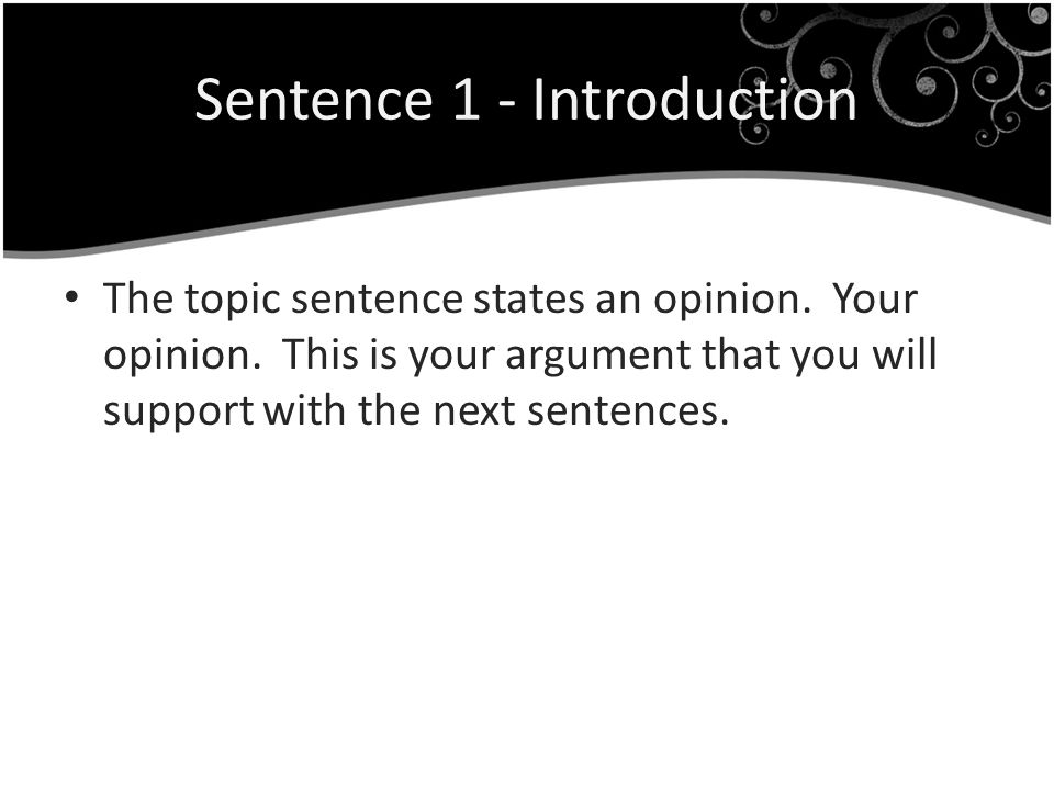 Topic Sentence Sample You should do your own homework and copying someone else is wrong.