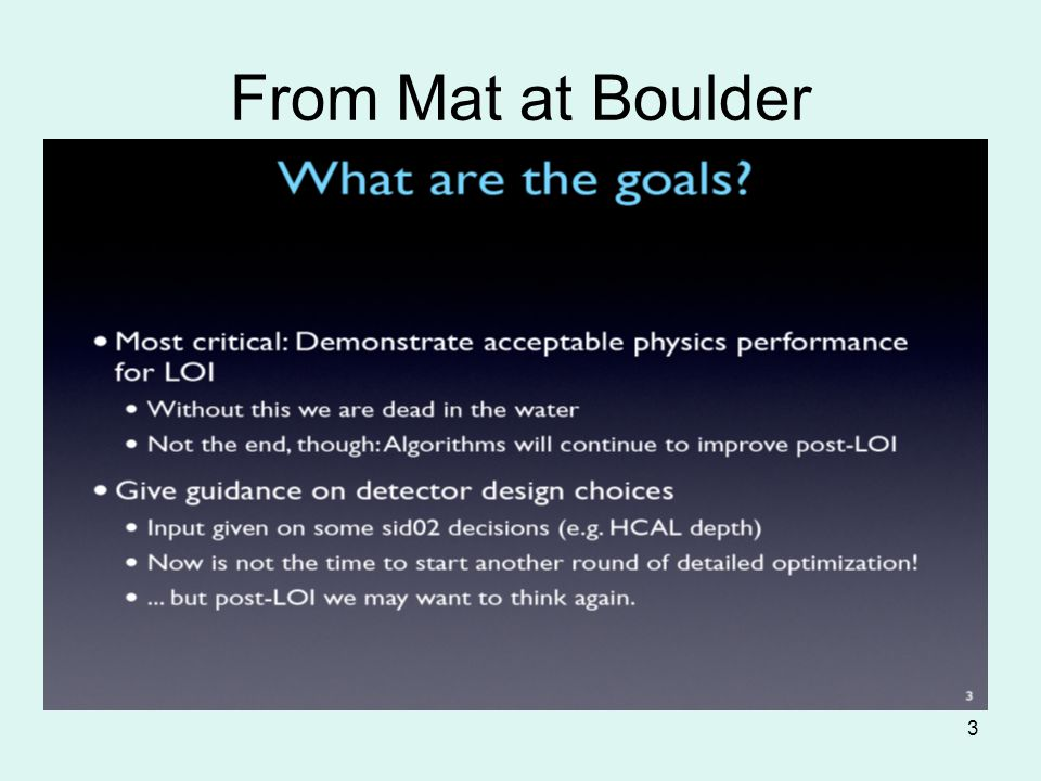 3 From Mat at Boulder