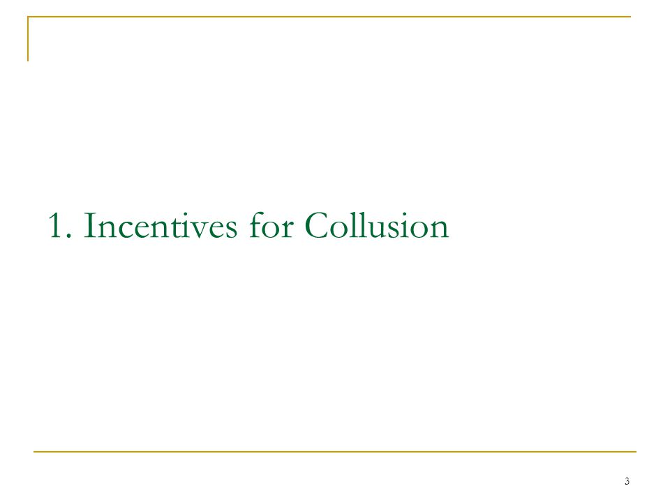 14 Can collusion work if firms play the game each year, forever.
