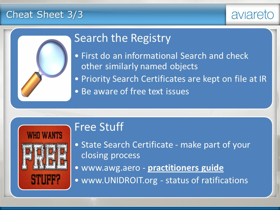 Cheat Sheet 3/3