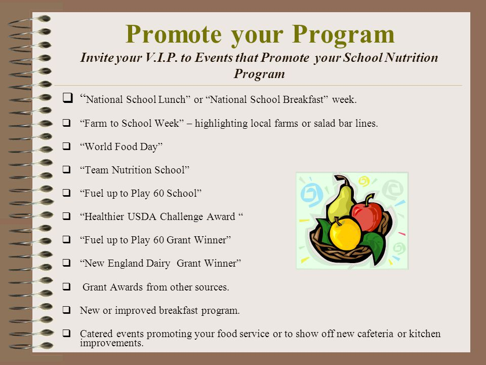 Promote your Program Invite your V.I.P.