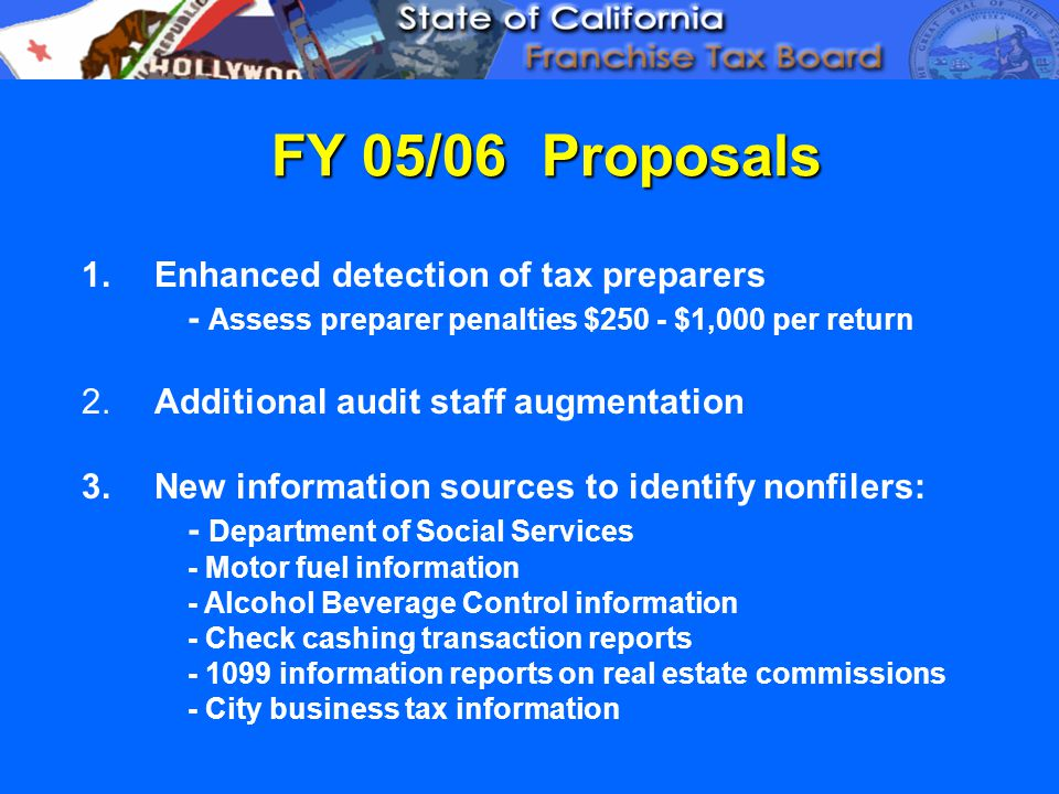 FY 05/06 Proposals 1.