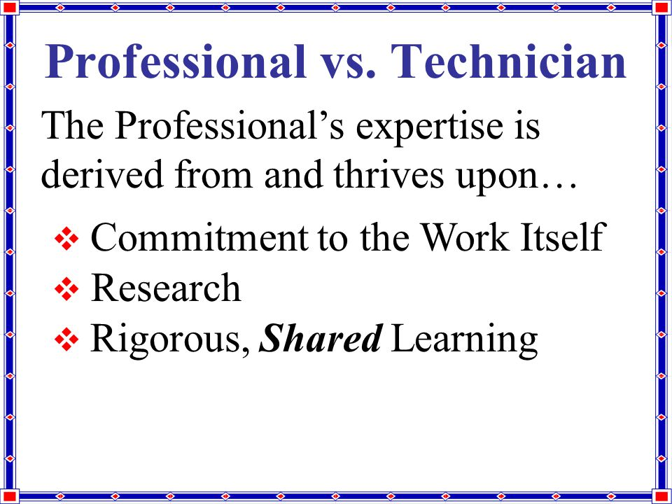 Professional vs.