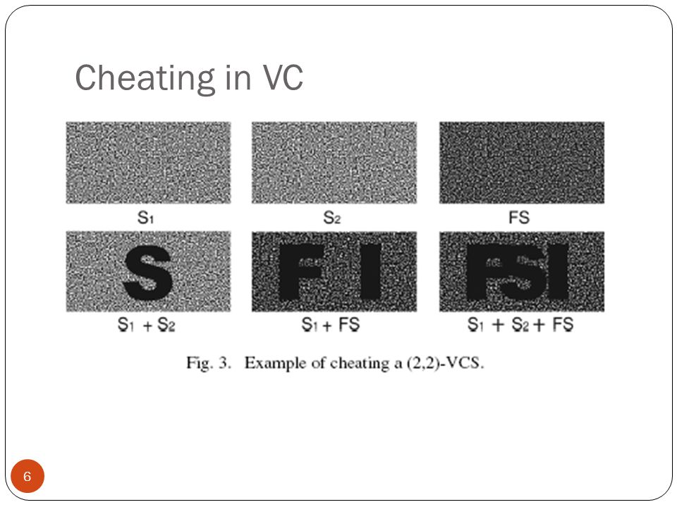 Cheating in VC 6