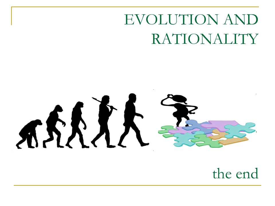 EVOLUTION AND RATIONALITY the end