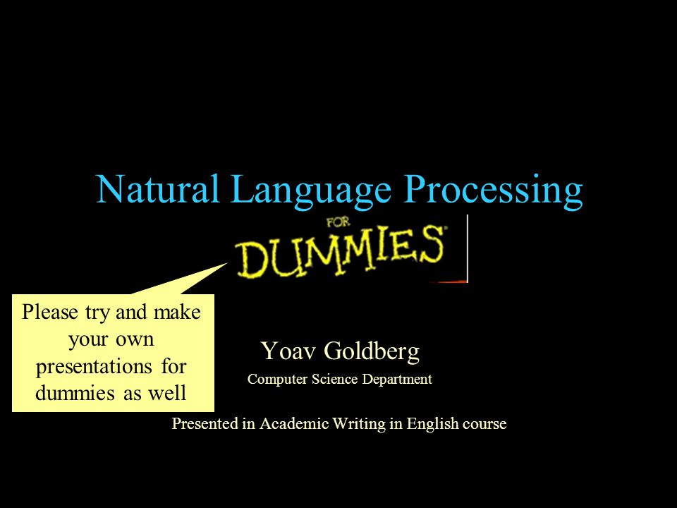 What is a Natural Language.