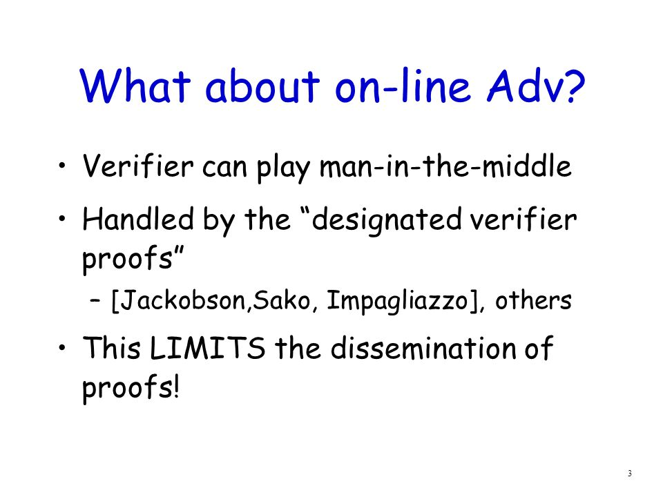 3 What about on-line Adv.