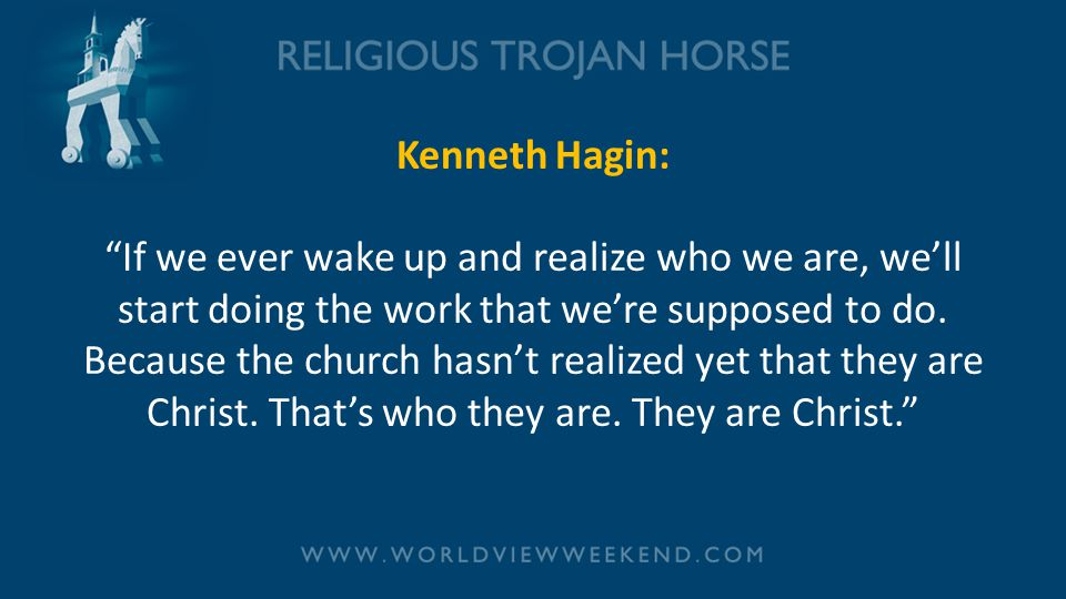 """Kenneth Hagin: """"If we ever wake up and realize who we are, we'll start doing the work that we're supposed to do. Because the church hasn't realized ye"""