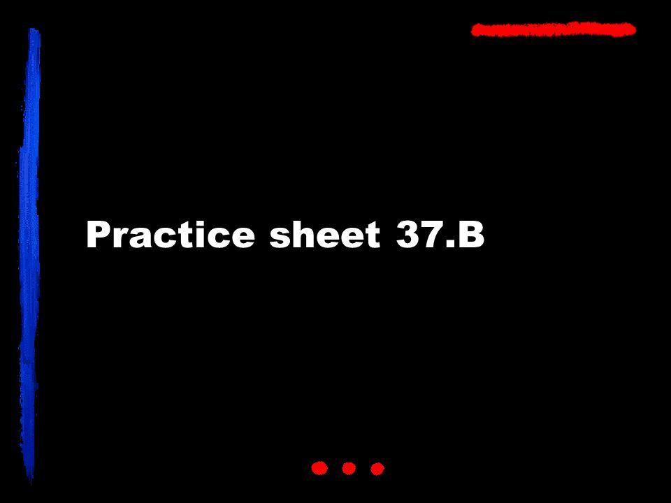Practice sheet 37.B
