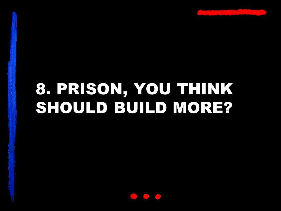 8. PRISON, YOU THINK SHOULD BUILD MORE?