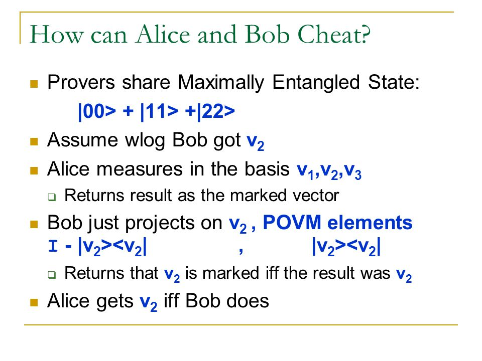 How can Alice and Bob Cheat.