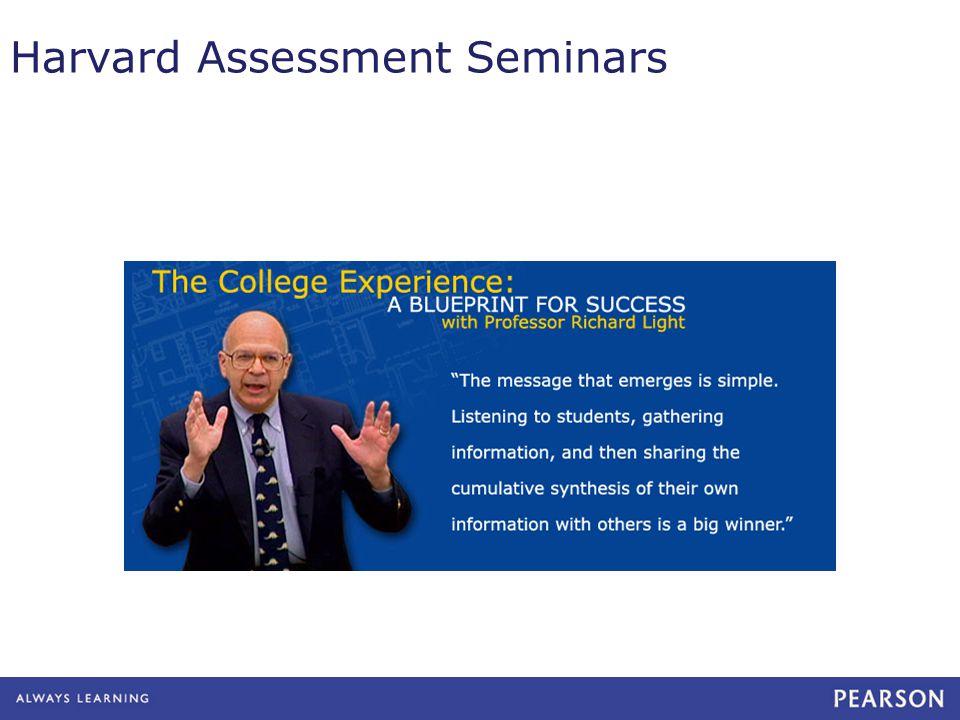 Harvard Assessment Seminars