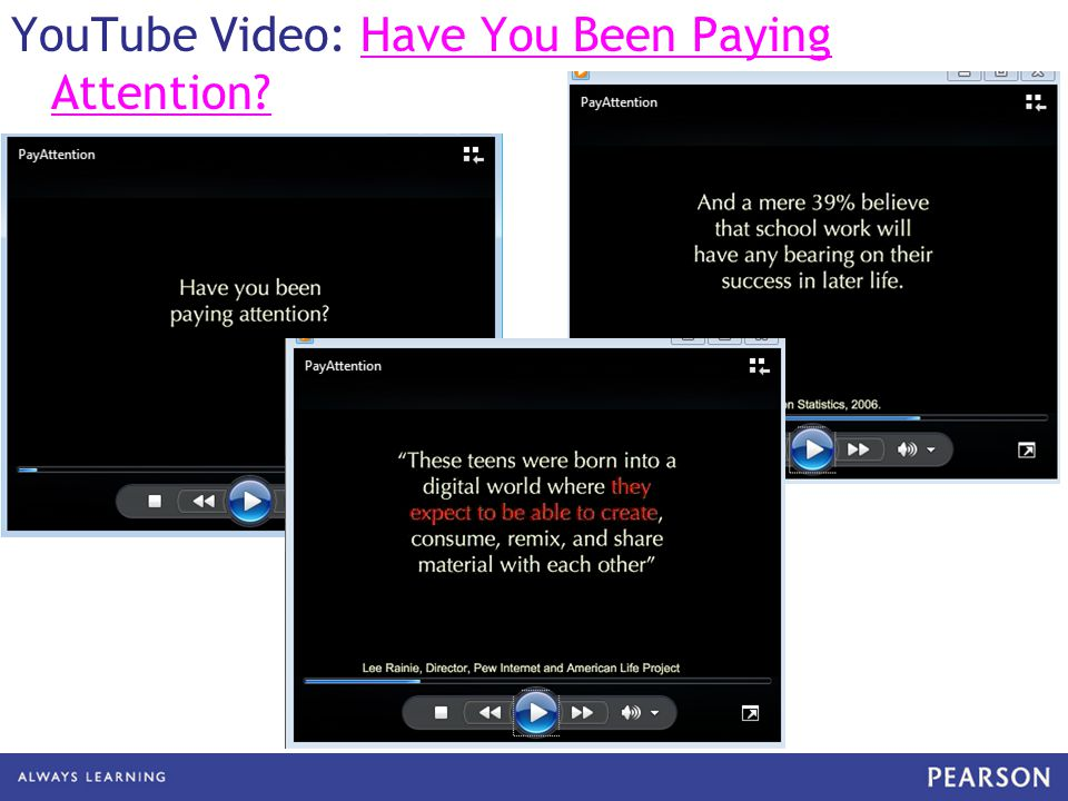 YouTube Video: Have You Been Paying Attention?Have You Been Paying Attention?