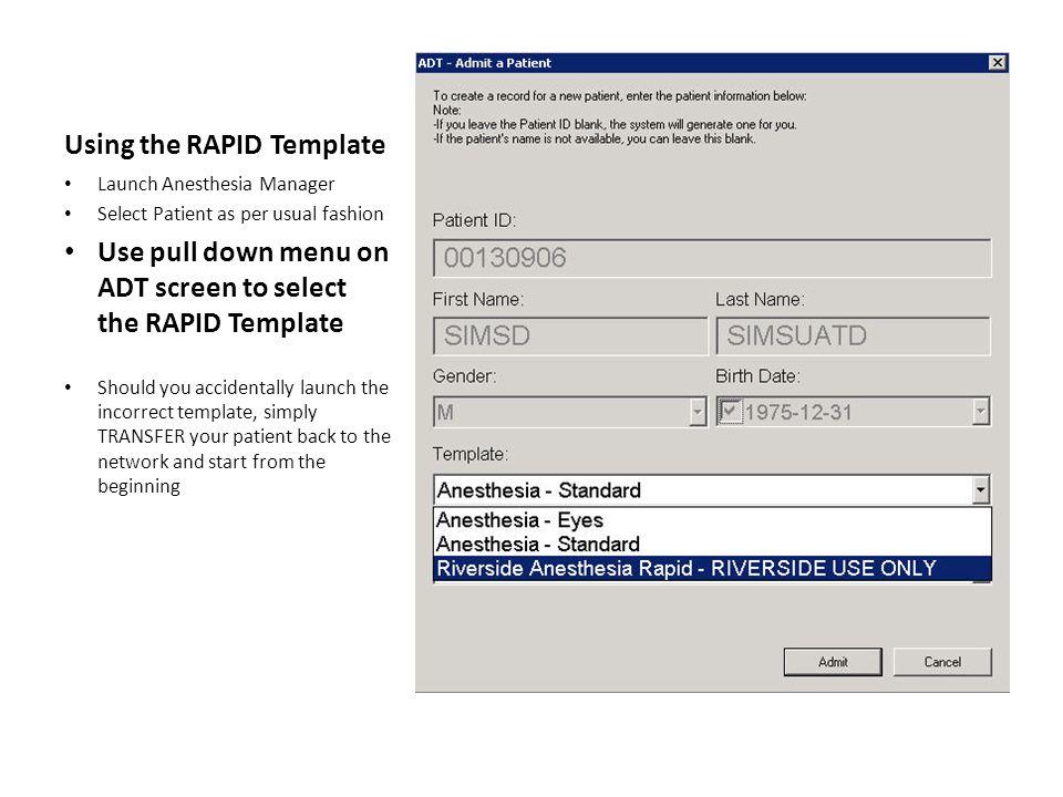 RAPID Template-HOME Screen