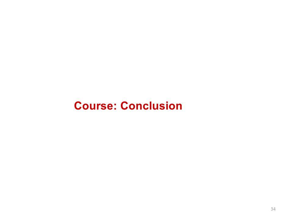 34 Course: Conclusion