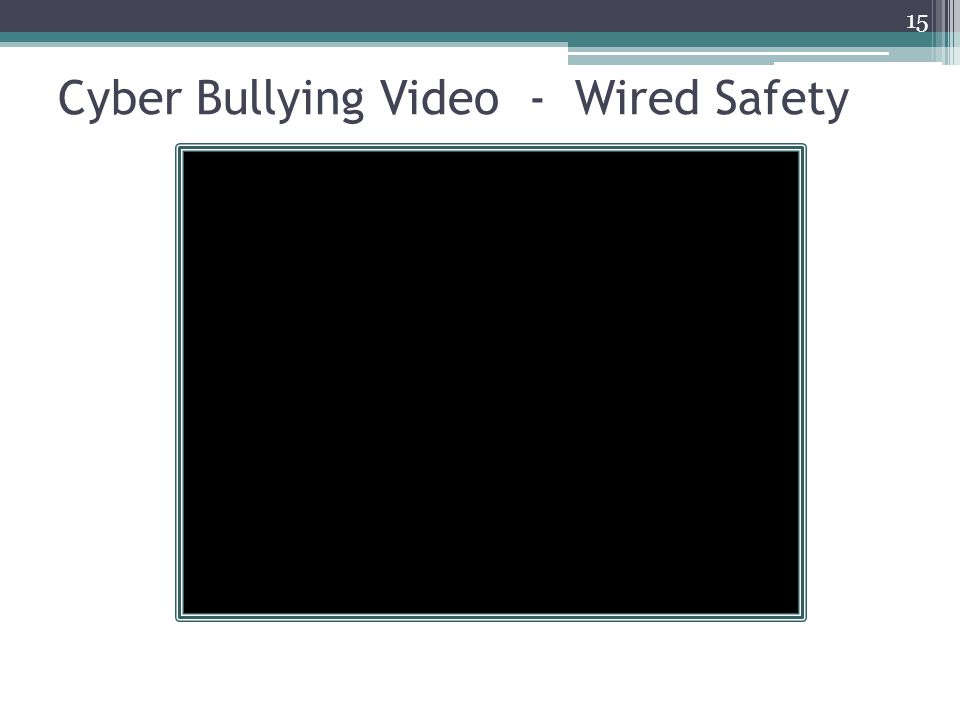 Cyber Bullying Video - Wired Safety 15