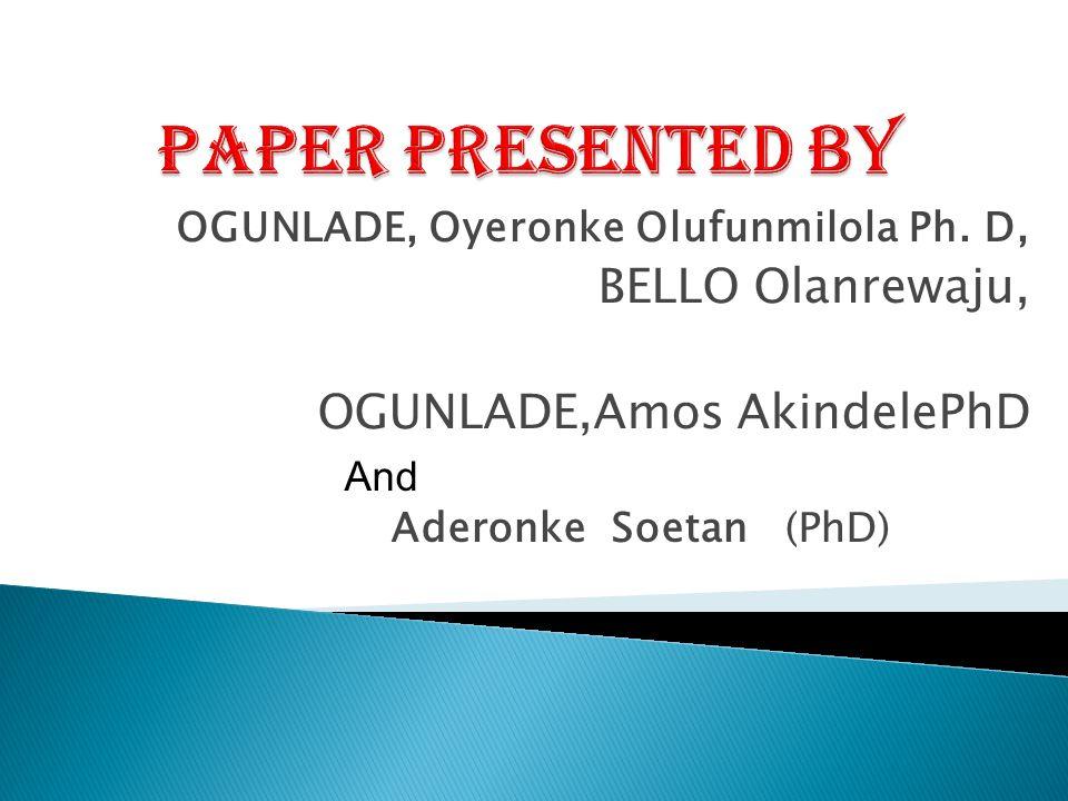 OGUNLADE, Oyeronke Olufunmilola Ph.
