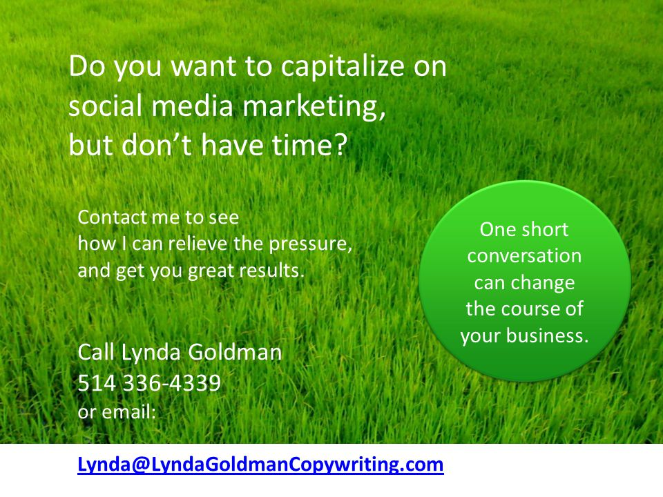 Do you want to capitalize on social media marketing, but don't have time.