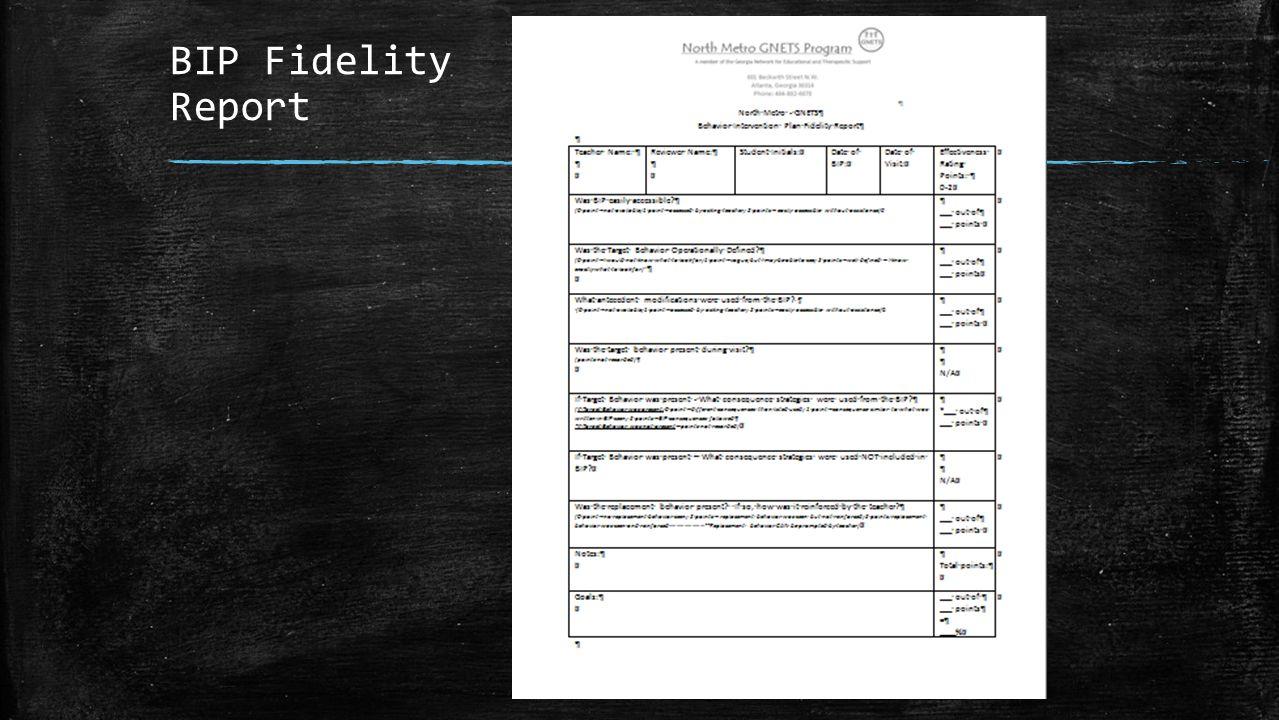 BIP Fidelity Report