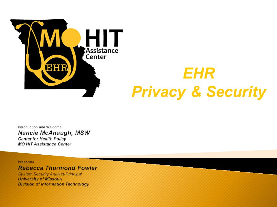 EHR Privacy & Security