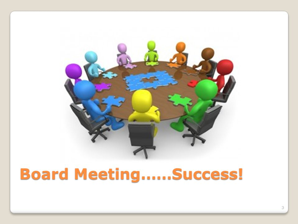 3 Board Meeting……Success!