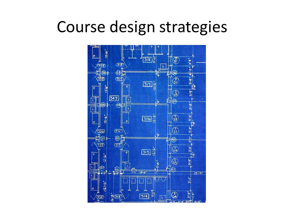 Course design strategies