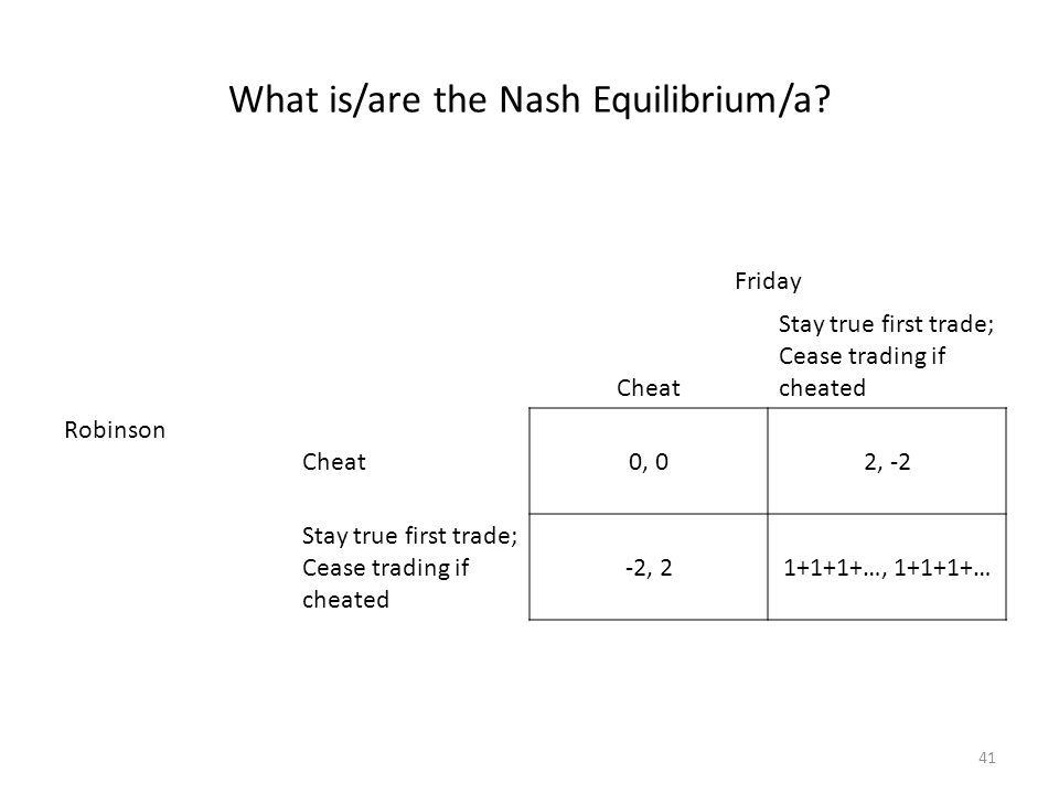 What is/are the Nash Equilibrium/a.