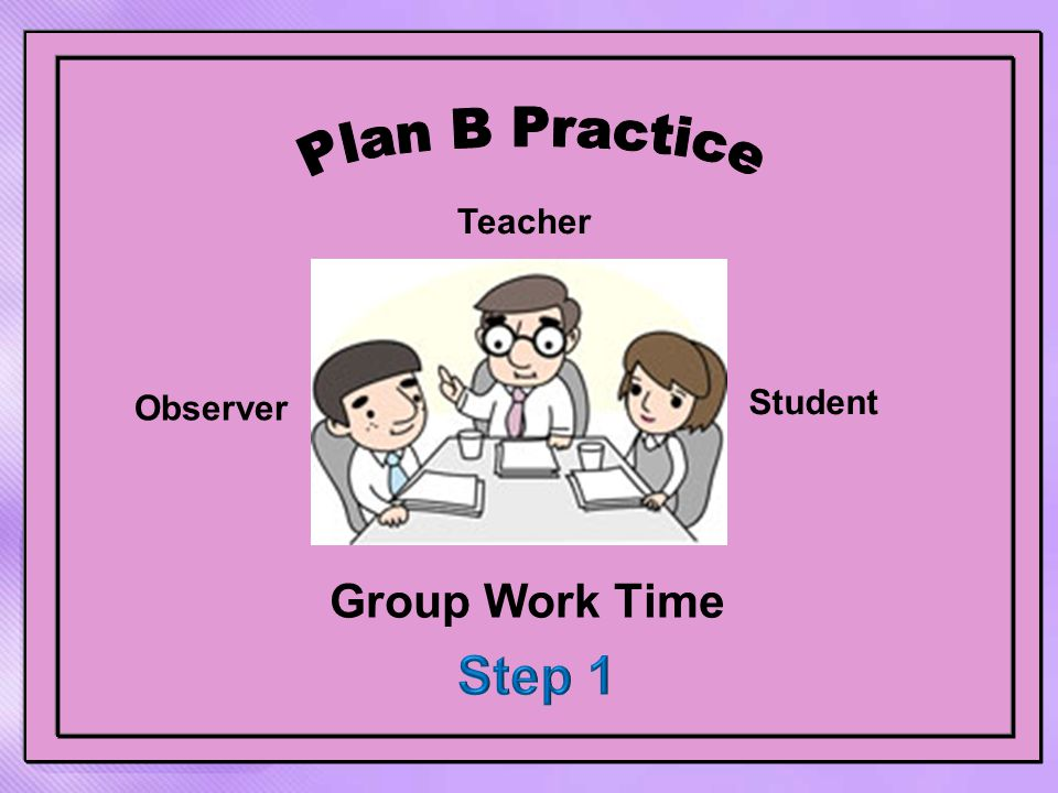Group Work Time Observer Teacher Student