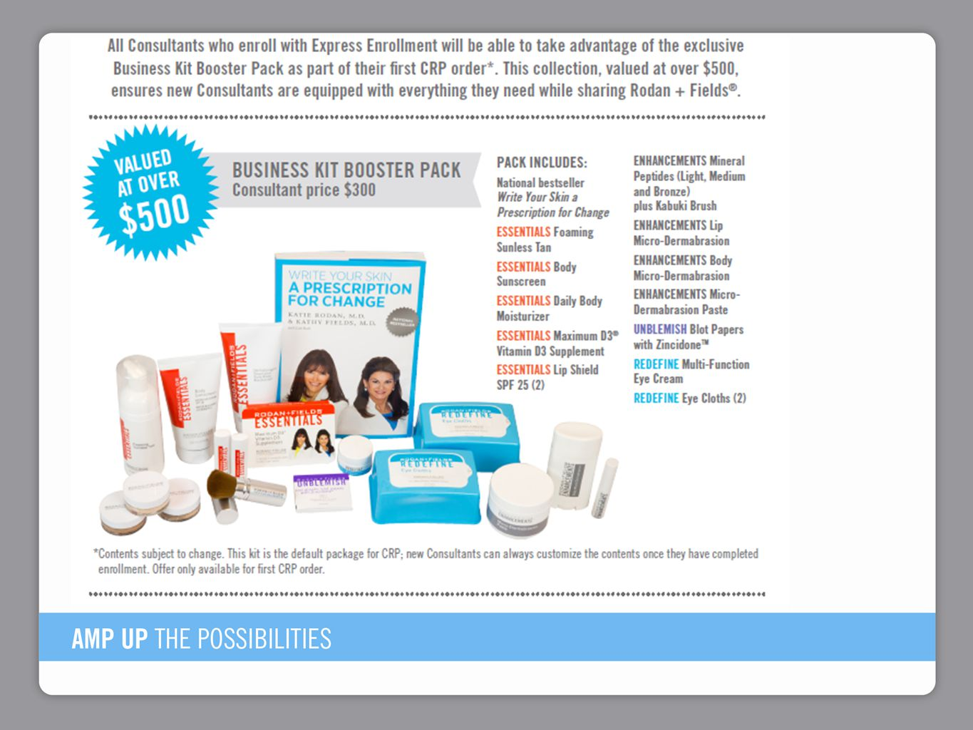 1.Use Express Enrollment Option. 2. Enroll into PULSE & CRP with Booster kit to ship next month.