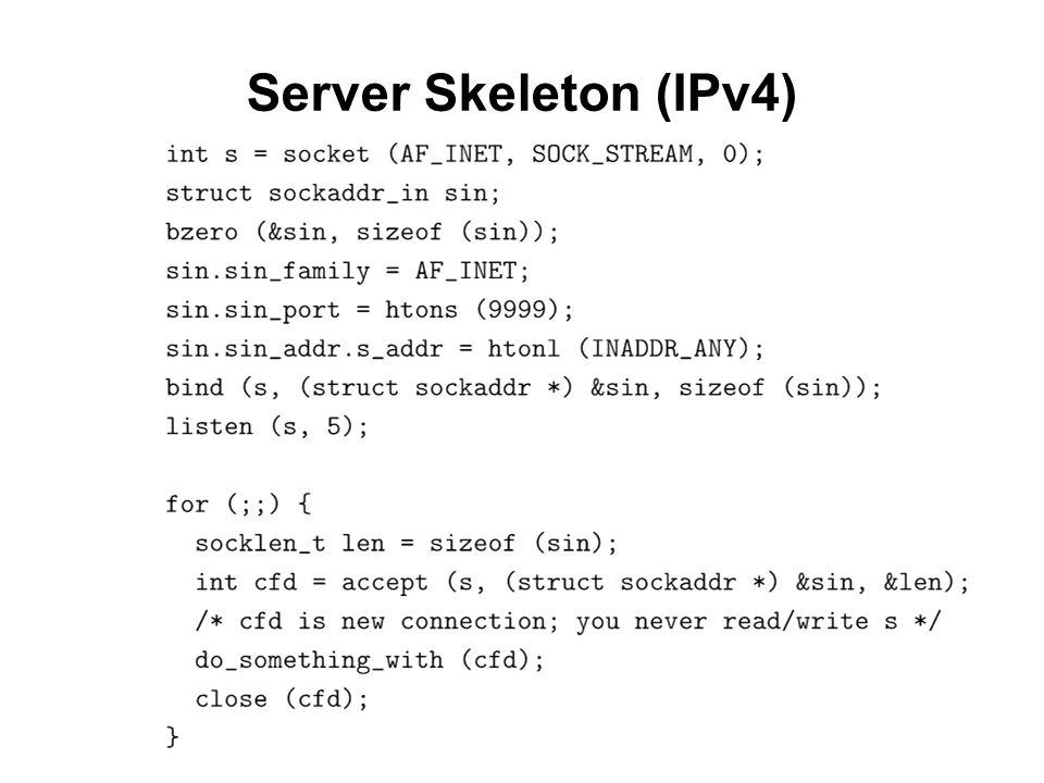 Server Skeleton (IPv4)