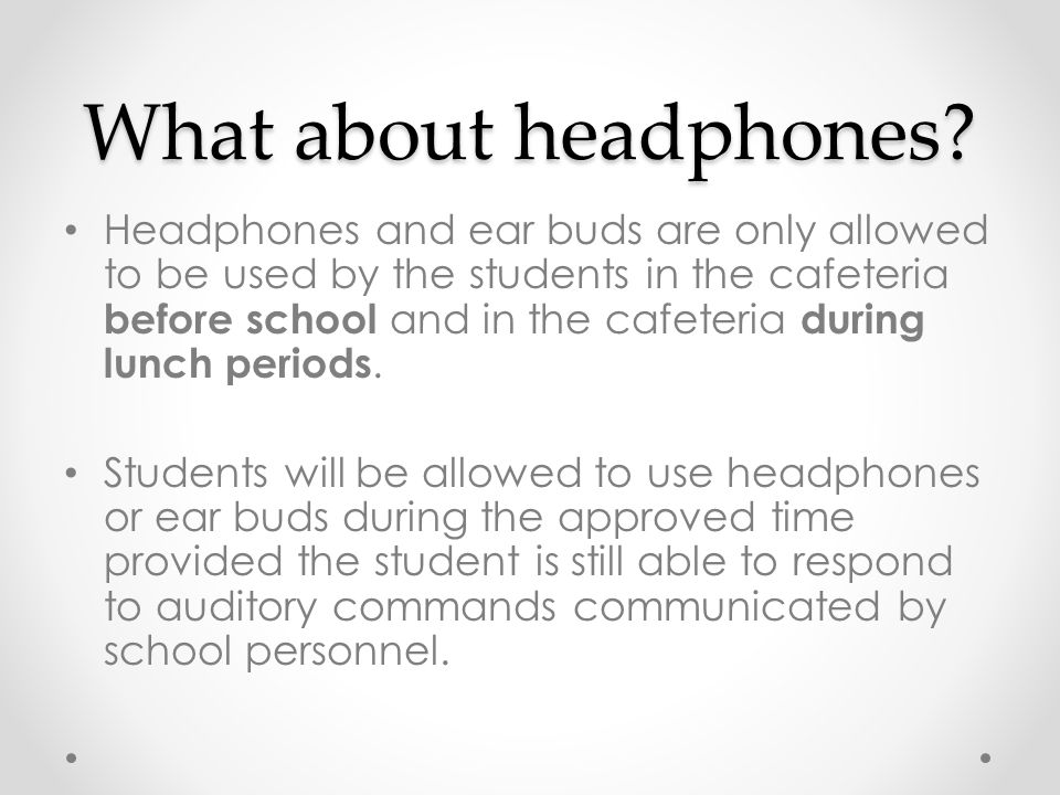 What about headphones.