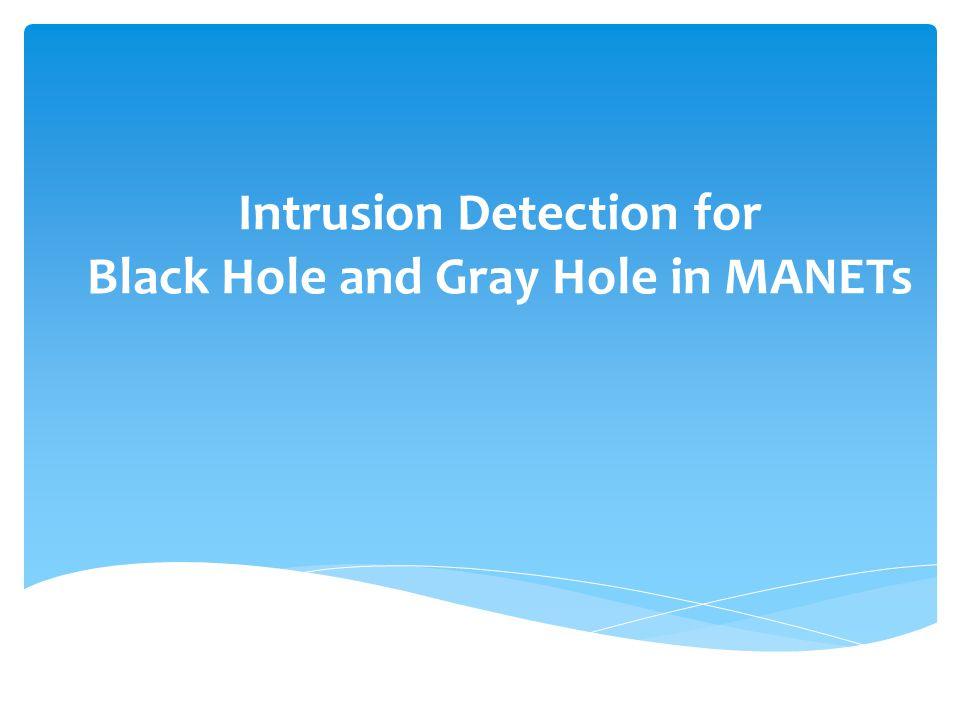S E G D F H C B M A Black hole and gray hole attack