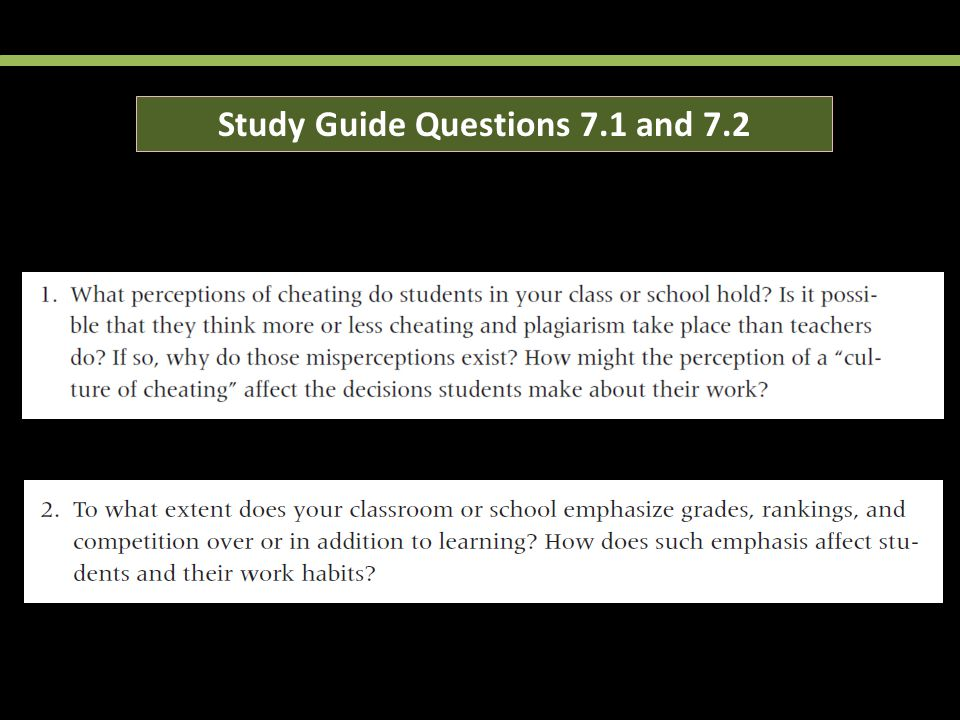 Study Guide Questions 7.1 and 7.2