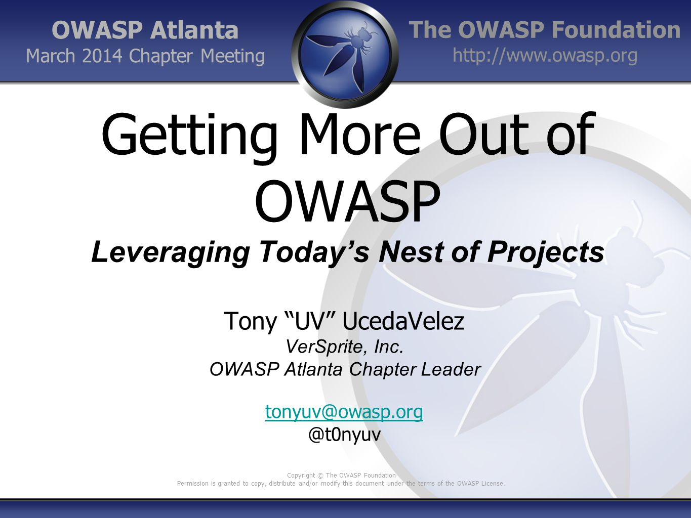 42 Prescribed Solutions for Development & QA Process OWASP Code Review Methodology for source code reviews Book (2 nd best selling for OWASP) OWASP Development Guide Establishes a process for secure development efforts across various SDLCs OWASP Cheat Sheet Series See following slide OWASP Countermeasures OWASP CSRFGuard OWASP Anti-Samy OWASP Enterprise API (ESAPI) Reference OWASP WebGoat Deliberate broken Apache web server with courses on common web insecurities OWASP ASDR Great reference for developers and QA professionals OWASP Video Series Free video series geared towards Developers and Security Testers (QA) OWASP Podcast Series Multiple topics covered – not just for dev.