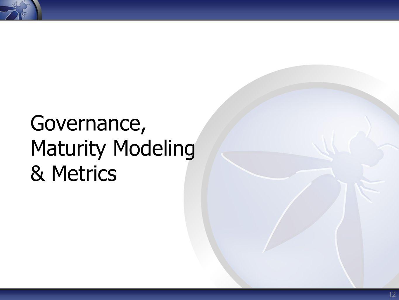 Governance, Maturity Modeling & Metrics 12