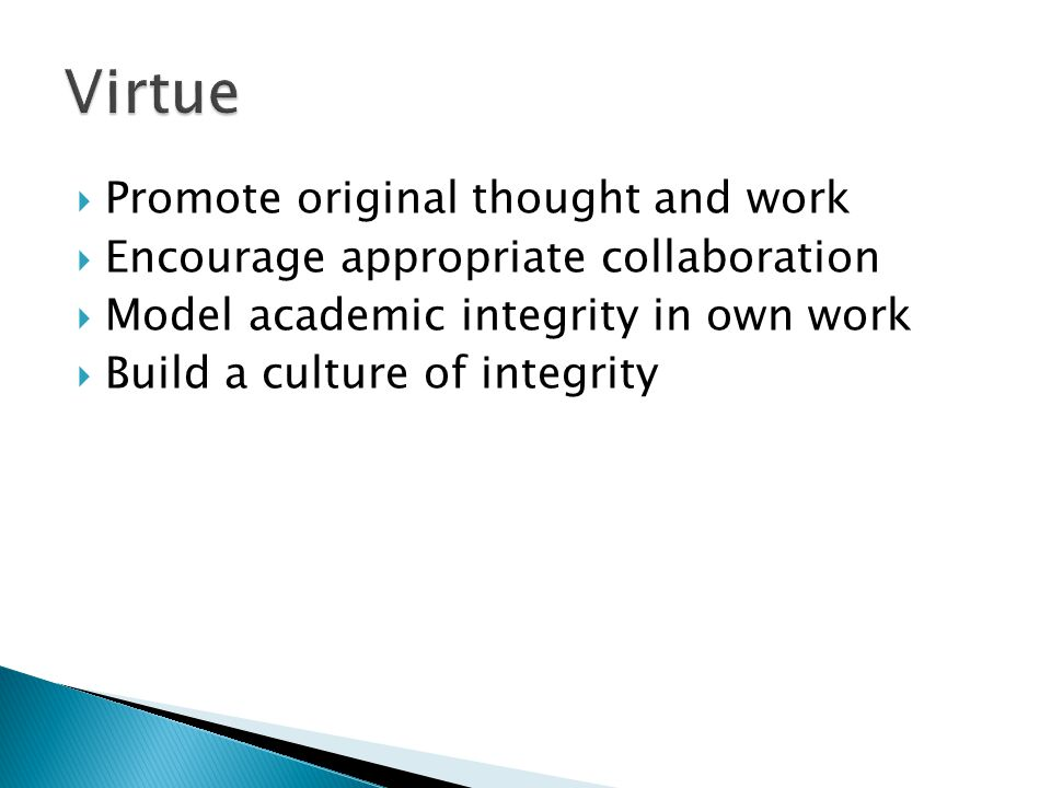  What are your concerns about academic integrity.