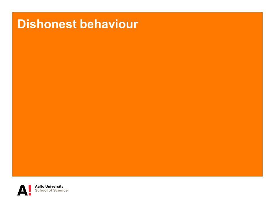 Dishonest behaviour