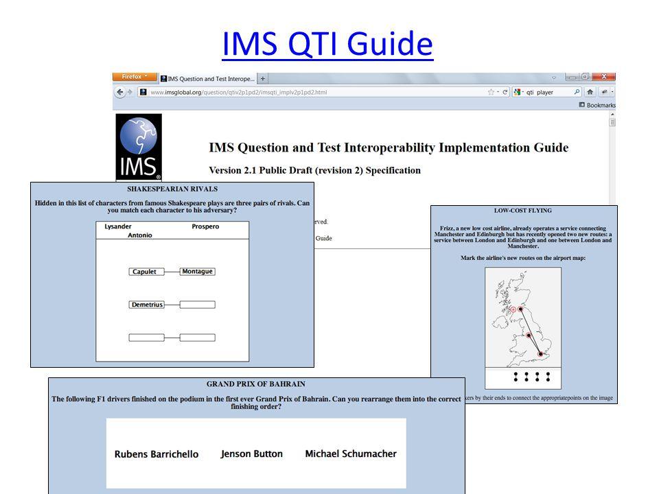 IMS QTI Guide