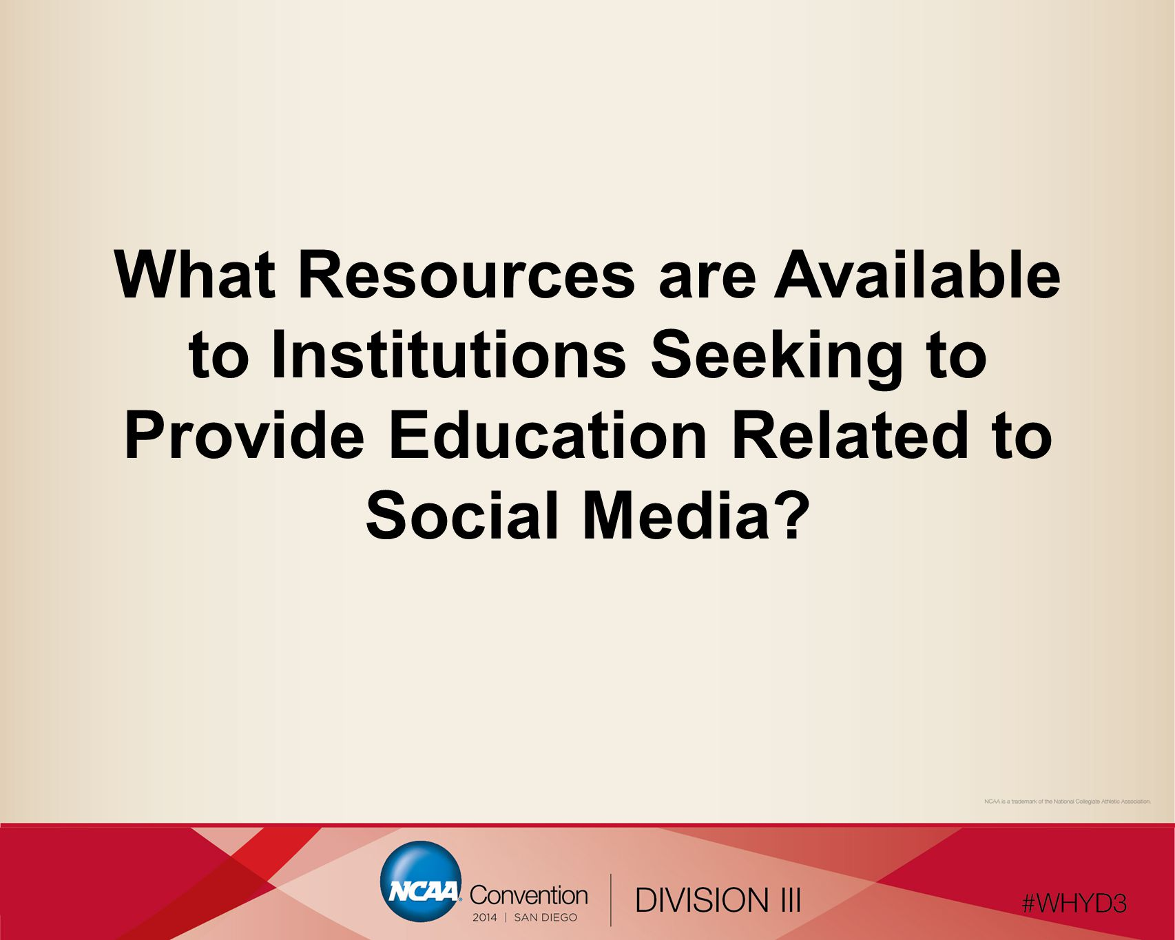 What Resources are Available to Institutions Seeking to Provide Education Related to Social Media?