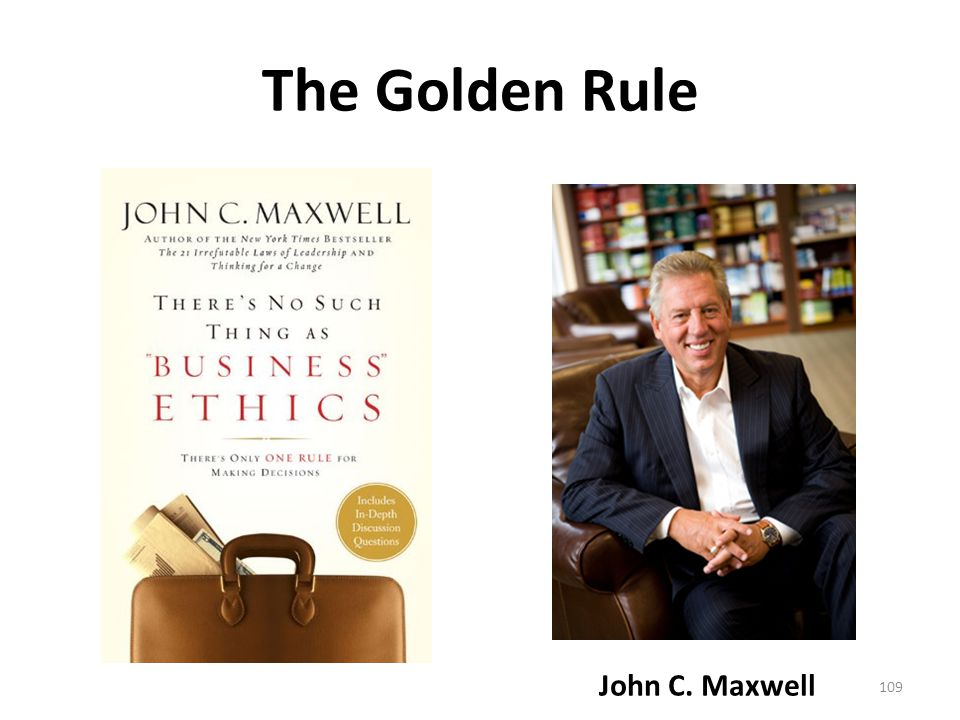 The Golden Rule John C. Maxwell 109