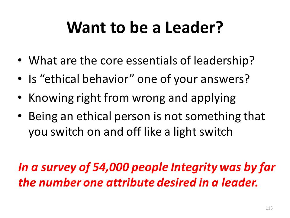 Want to be a Leader. What are the core essentials of leadership.