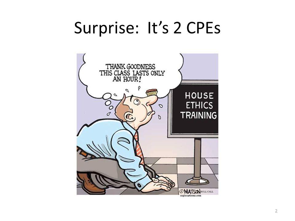 Surprise: It's 2 CPEs 2