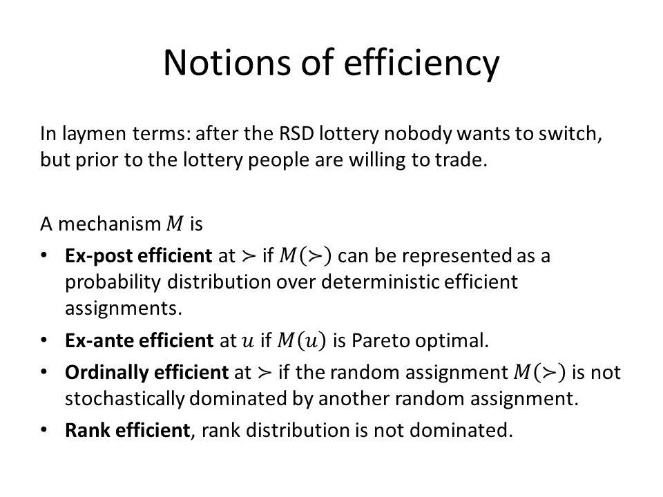 Notions of efficiency