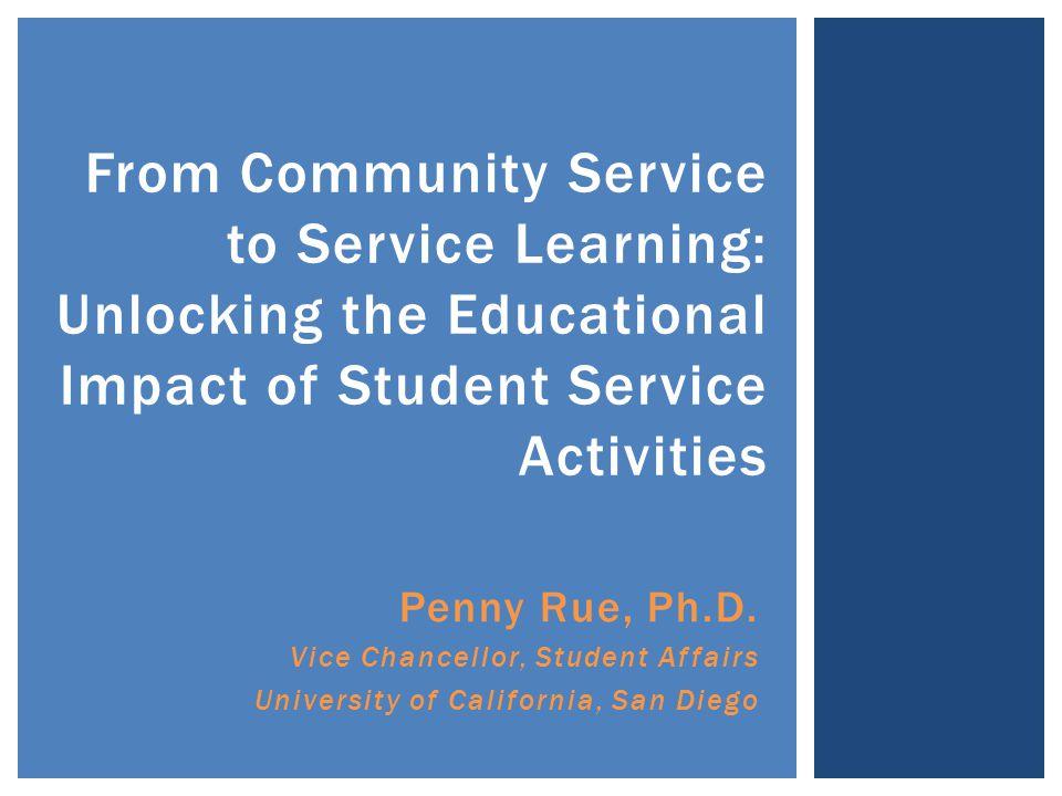 Penny Rue, Ph.D.