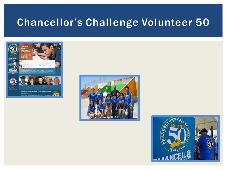 Chancellor's Challenge Volunteer 50