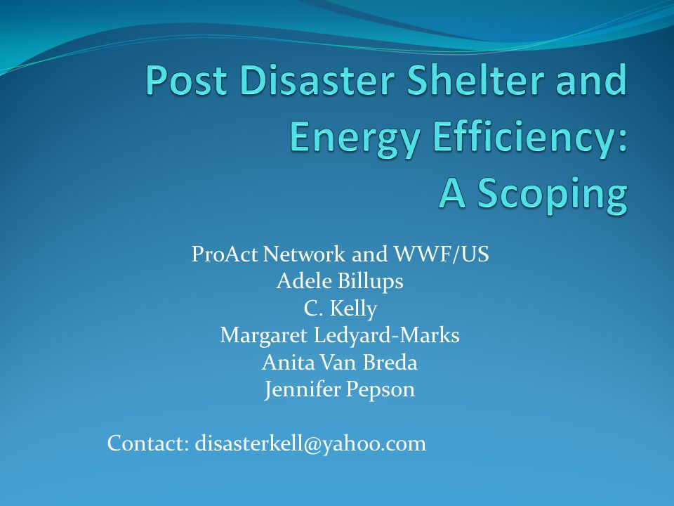 ProAct Network and WWF/US Adele Billups C.